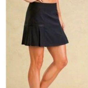 Athleta Any Sport Pleated Skort Skirt Black Medium